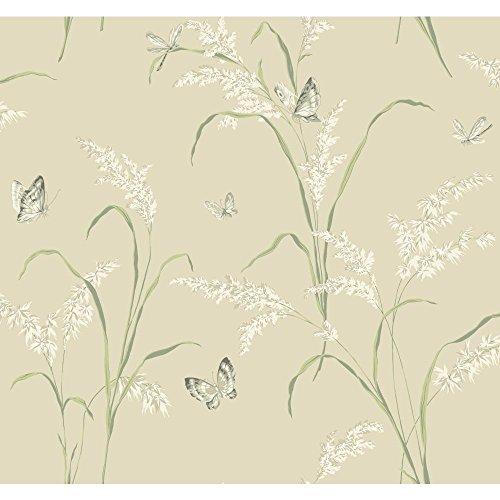 - York Wallcoverings AB1892 Black and White Gingham Wallpaper, Beige/Cream/Light Gray/Sage Green/Lead Gray