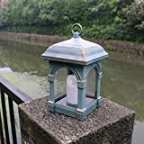 Garden Candle Lantern, Solar Lights Outdoor Candle Lantern LED Security Light Flickering Effect for Garden Path Ornaments, Coach Lantern Lights(Bronze)