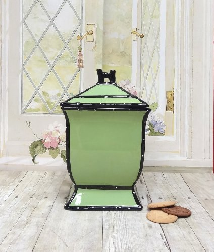 Tuscany Pistachio Green, Ruffle Cookie Jar, 85476 by ACK (Green Ceramic Pistachio Glazed)