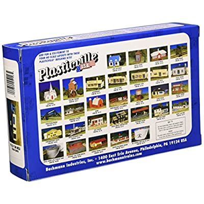Bachmann Industries Plasticville U.S.A. Kit - Ranch House (HO Scale), Cream & Brown: Toys & Games
