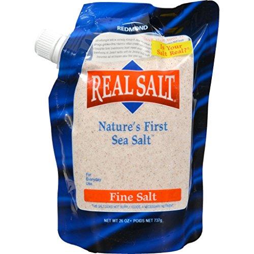 dolly2u Real Salt Nature's First Sea Salt Fine Salt - 26 oz - Case of 12