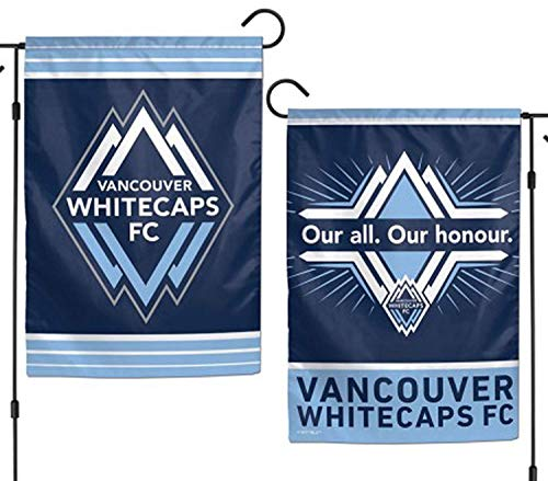 XGUPKL Vancouver Whitecaps Double Sided MLS Garden Flag Licensed Soccer for Party Outdoor Home Decor Size: 12.5-inches W X 18-inches H -