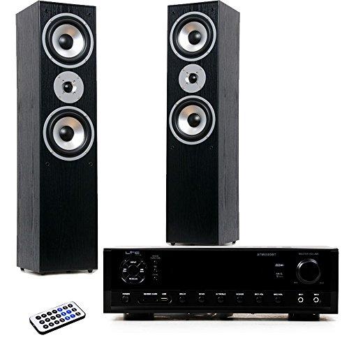 Hifi Heimkino Musikanlage Bluetooth USB MP3 Verstärker schwarze Standboxen HIFI-Premium 11