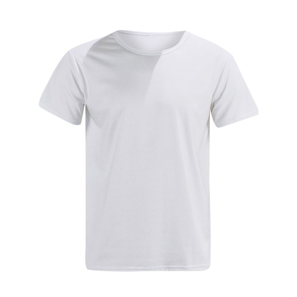 aiNMkm Sport T Shirts for Boys, Letter Print T-Shirt Tops Blouse Tee Short Sleeve Lovers Couple Shirt Man,White,L