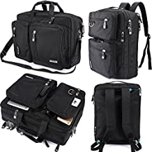 FreeBiz Laptop Bag 17 Inch Laptop Backpack Multi-function Briefcase with Handle and Shoulder Strap Fits up to 17.3 Inch Apple Dell Hp Asus Msi Gaming Laptops ( Black)