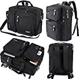 FreeBiz Laptop Bag Convertible Backpack Business Briefcase Messenger Bag for 17.3 Inch Laptop Computer Notebook MacBook Chromebook for Men Women Students(Black)