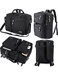 FreeBiz Laptop Bag 18 Inch Laptop Backpack Nylon Water Resistant Durable Back Pack Briefcase Messenger Bag with Handle and Shoulder Strap Fits 18.4 Inch Laptop Men Women Business (18.4 inches)