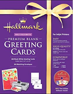 Amazon hallmark card studio deluxe 2018 software nova development us hallmark blank greeting cards half fold matte premium 20 count m4hsunfo