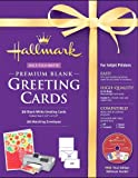 Software : Hallmark Blank Greeting Cards Half-fold Matte Premium 20 Count