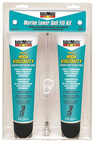 Lubrimatic 11101 2 Pack Marine Lower Unit Fill Kit with 80/90 Gear Lube, 10 oz. Tubes - 2 Pack, 2 Pack