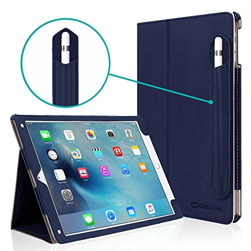 iPad Pro 10.5 Case, CaseCrown Bold Standby Pro Case (Blue) w/ Detachable Apple Pencil Holder