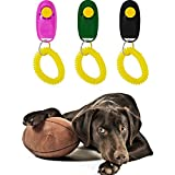 ZGY 5Pcs Pet Dog Puppy Cat Bird Training Trainer Bark Control Clicker Click Obedience Wrist Strap Guide Toy Random Color