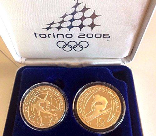 IT 2006 Italy 2006 Silver Proof Set 5&10 Euro Torino Olym Good