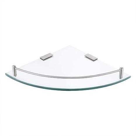 KES Badezimmer-Eckregal aus Glas dreieckiges Wandregal für ...