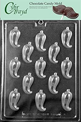 Cybrtrayd Fruits and Vegetables Chocolate Candy Mold, Chili Pepper