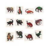 Fun Express Dinosaur Temporary Tattoo Stickers - 72 Pieces