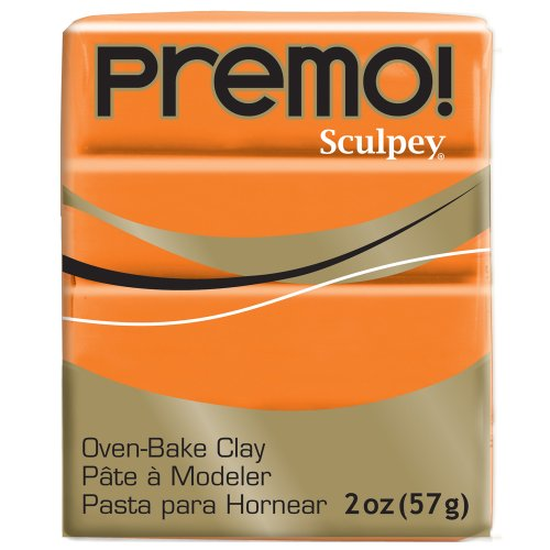 (Premo Sculpey Polymer Clay 2 Ounces-Orange)