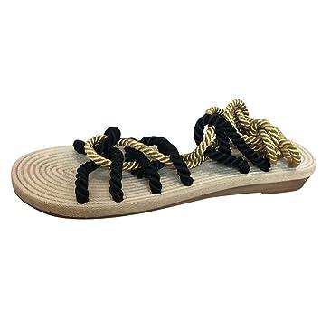 Amazon.com: Staron - Sandalias planas de verano para mujer ...