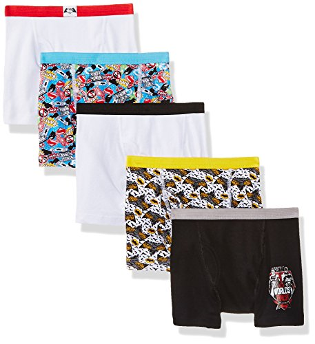 DC Comics Little Boys' Dawn Of Justice 5pk Boxer Briefs, Assorted, 6