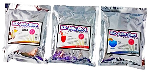Blue Mai Tai, Pina Colada, and Strawberry Daiquiri EZ-Jello Shot Mix Bundle by EZ-Squeeze from EZ-Squeeze