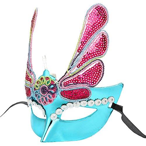 Longra ♥♥LED Máscara de Víspera de todos los Santos, Top Masquerade, Floral Deco Pintado Deco B
