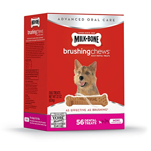 Milk-Bone Brushing Chews Daily Dental Treats – Mini – 22Oz – 56 Bones