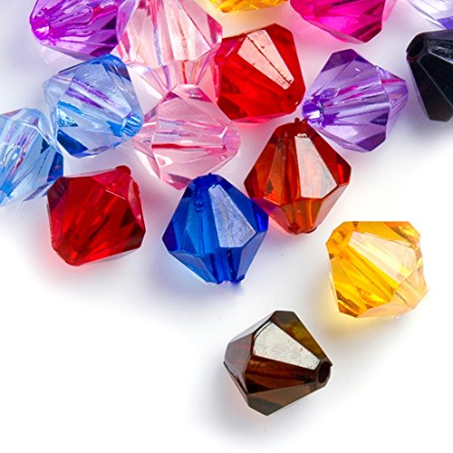 20g Acrylic Fashion Beads Color Assorted Center Drilled Style Transparent Acrylic Size 10x10x10mm Hole Size 2mm