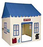Pacific Play Tents Kids My First Garage Cotton Canvas House Tent Playhouse - 52.5'' x 42'' x 64.5''