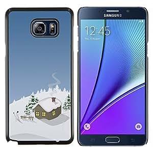 """Be-Star Único Patrón Plástico Duro Fundas Cover Cubre Hard Case Cover Para Samsung Galaxy Note5 / N920 ( Invierno Casa de la Navidad"""" )"""