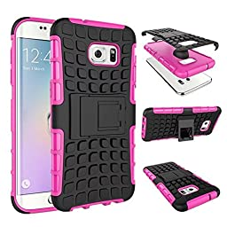DRUnKQUEEn S7 Edge Case, Galaxy S7 Edge Case, Armorbox Hybrid Dual Layer Combo Full Body Heavy Duty Protection Armor Defender Protective Bumper Case Holster with Kickstand for Samsung Galaxy S7Edge