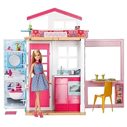 Image Unavailable. Image not available for. Colour  Barbie Doll House with  Doll 0e584c5d45da
