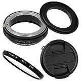 Fotodiox RB2A 62mm Macro Reverse Ring Kit w/Nikon G & DX Lens Aperture Control, Lens Cap & 52mm UV Protector