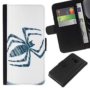 All Phone Most Case / Oferta Especial Cáscara Funda de cuero Monedero Cubierta de proteccion Caso / Wallet Case for HTC One M7 // Spider Sign