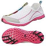 Zhuanglin Women's Quick Drying Aqua Water Shoes Size 7 B(M) US White,White,7 B(M) US