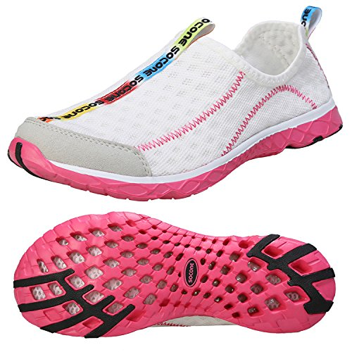 Zhuanglin Women's Quick Drying Aqua Water Shoes Size 9 B(M) US White