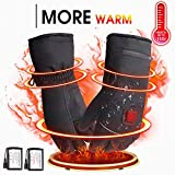 Rabbitroom Winter Electric Heated Gloves with Rechargeable Li-ion Battery, Waterproof Insulated Heating Driving Gloves, Thermal Arthritic Gloves for Men and Women (7.4V, L)