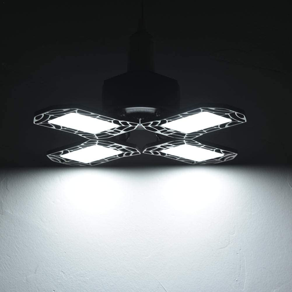 BRANDNEWS Garage Light 2020 120W Multifunctional LED Foldable Four Leaf Light High Bay Light-Home Accessories//Outdoor Lighting enhanced