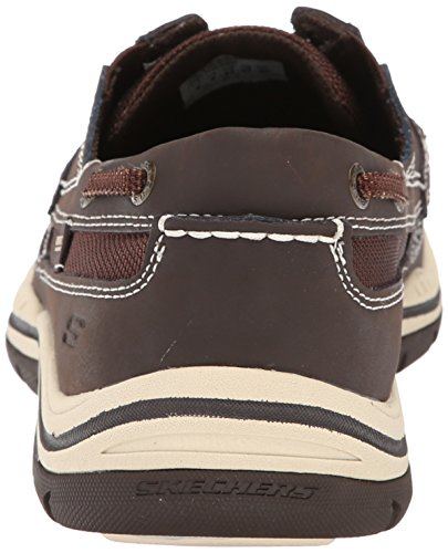 Skechers Usa Hommes Attendus Gembel Relax Fit Oxford Chocolat