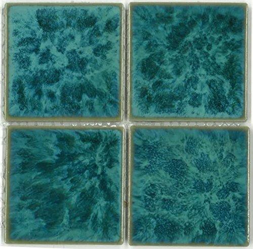 Fujiwa Porcelain Swimming Pool Waterline Tile - TITAN 333 AQUA MARINE 3