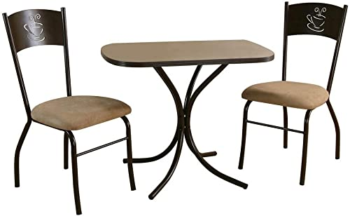 Sunset Trading 3-Pc Dark Cappuccino Dinette Set Kitchen and Dining Room