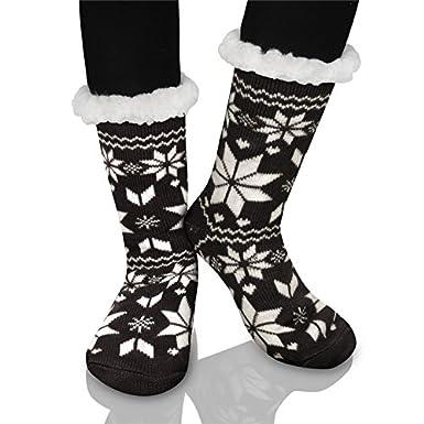 Kfnire calcetines de algodón calcetines térmicos Adulto Unisex Calcetines en casa con suela antideslizante: Amazon.es: Ropa y accesorios