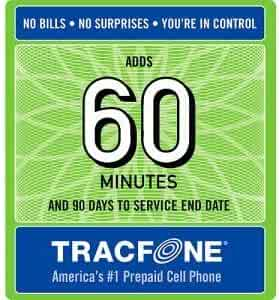 Tracfone 60 Minute Card + 90 days of Service - Airtime Card Refill - PIN # Number (Tracfone USA Only)