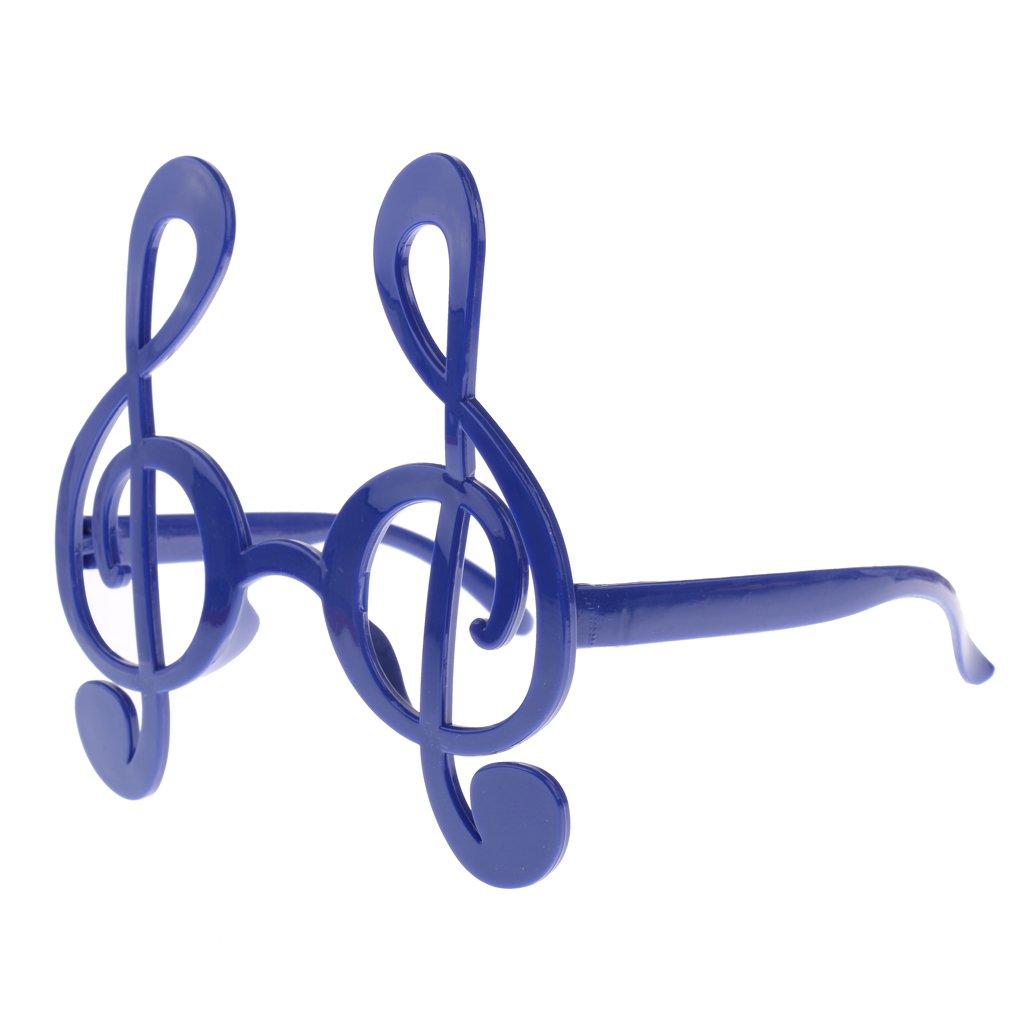 Baosity Treble Clef Notaci/ón Musical S/ímbolo Notas Gafas Gafas De Sol Fiesta Vestido Azul
