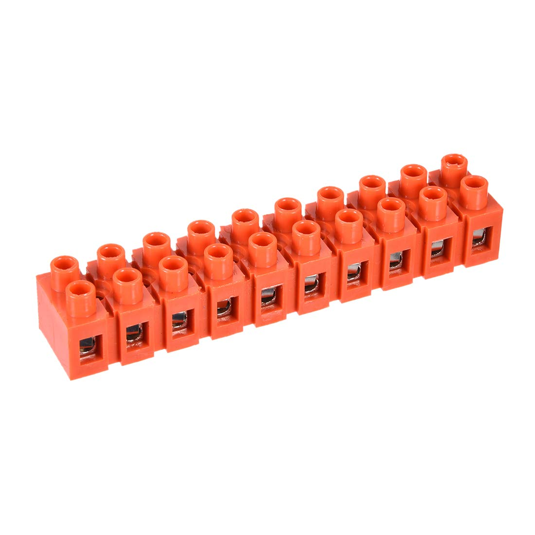 Uxcell a15102300ux0661 7 Piece 10A Dual Rows 12 Position Terminal Block Barrier Strip Cable Connector