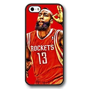 Onelee(TM) - Customized Personalized Black Hard Plastic iPhone 5/5S Case, NBA Superstar Houston Rockets James Harden iPhone 5/5S Case, Only Fit iPhone 5/5S Case by mcsharks