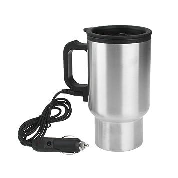 12V Termo Taza Eléctrico Calentador para Café Mechero Coche Viaje 450ml