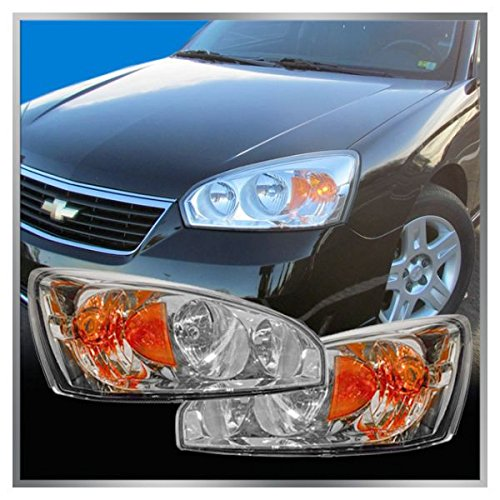 Headlights Headlamps Left & Right Pair Set for 04-08 Chevy Malibu
