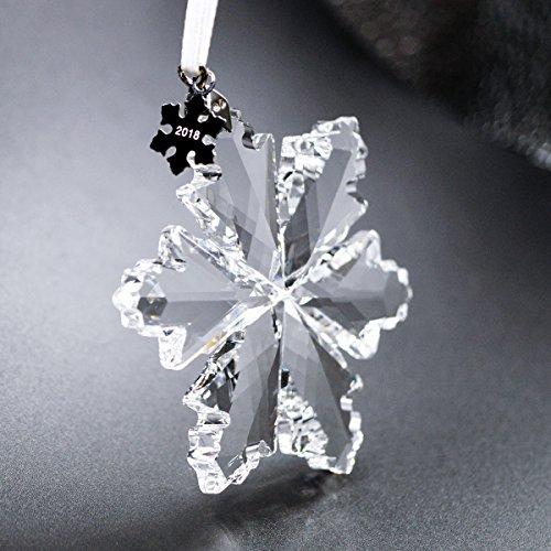 Ornament China Snowflake (XIANGBAN Crystal Snowflake Pendant Hexagonal Star Snowflakes Christmas Decorations,Christmas Tree Charm Jewelry(Year tag Detachable))