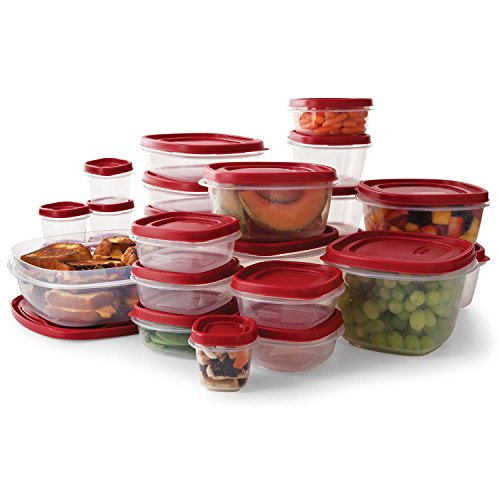 Rubbermaid Easy Find Lids Food Storage Containers, Racer Red, 50-Piece Set B002RSO2PW from Rubbermaid