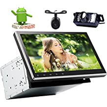 10.1'' Android 7.1 Nougat System Car DVD Player Stereo Quad Core GPS Navigation Head Unit with HD Touchscreen 2GB Bluetooth Auto Radio Wifi Subwoofer with Free Front & Backup Camera!!